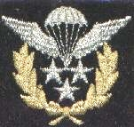 This image displays a military insignia . Copyrighting combatant identification and/or rank insignia violates international law; hence this image can not be copyrighted. This applies worldwide. Note that the use of such symbols is restricted in many countries independently of the copyright status. Please respect the law!